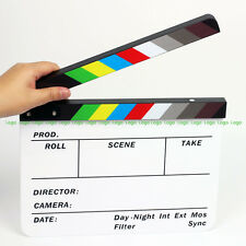 Color Strip Film Slate Clapper Movie Slate Clapboard fr DSLR Camera Production