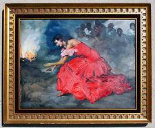 Francisco Rodríguez Sánchez Clement Painting Gypsy Flamenco Dancer Replica Art