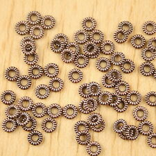 300pcs copper-tone daisy flower bead H2250