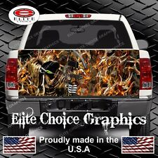 Bow Reaper Buck Blaze Camo Truck Tailgate Wrap Vinyl Graphic Decal Wrap