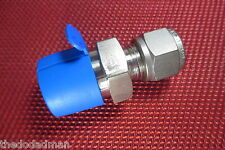 "SSP Grip® 3/8""Tube OD x 1/2""NPT Male Pipe 316 Stainless Steel Straight Connector"