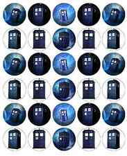 Dr Who Tardis Cupcake Toppers Edible Wafer Paper BUY 2 GET 3RD FREE
