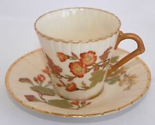 1889 Royal Worcester Blush Ivory Tea Cup & Saucer #1221 Rd No 67635 Hand Painted