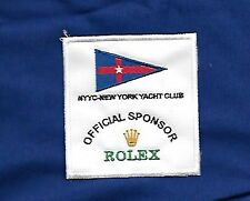 Patch, toppa, NEW YORK YACHT CLUB - ROLEX OFFICIAL SPONSOR da cucire
