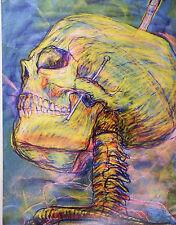 """Bonita Bramante ATC Art Card Skull postcard """"SKULL"""" POSTCARD #7"""