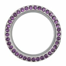 ORIGAMI OWL AMETHYST PURPLE SWAROVSKI CRYSTAL LARGE TWIST FACE ONLY RETIRED