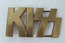 1970'S VINTAGE KISS ROCK BAND MUSIC SOLID BRASS BELT BUCKLE KISS CUT-OUT
