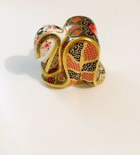 New Royal Crown Derby 1st Quality Imari Snake Paperweight with Gold Stopper