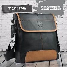 Men's Leather Shoulder Bag Briefcase Satchel Business Messenger Bag Crossbody