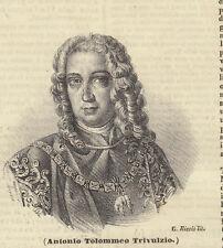 Antonio Tolomeo Trivulzio litografia 1841