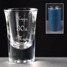 Personalised Shot Glass, Birthday Gift, 26th 27th 28th 29th 30th 31st 32nd 33rd