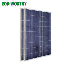 200Watt Solar Panels -2x100W 18V PV Solar Panel 12V RV Boat Home Battery Charge