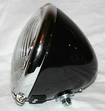Harley Knucklehead Flathead Panhead 6 volt Headlight Assembly Black New (187)
