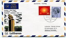 FFC 1970 Lufthansa First Flight LH 214/215 Hamburg Goteborg Oslo Schweden