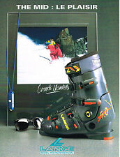 PUBLICITE ADVERTISING  1991   LANGE  chaussures de ski