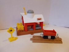 Fisher price geotrax Railside Rail side farm barn train track car sign