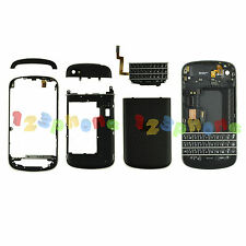 FRAME + KEYBOARD + CAMERA LENS + COVER FULL HOUSING FOR BLACKBERRY Q10 #BLACK
