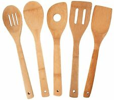 TOTALLY BAMBOO 5 PIECE BAMBOO UTENSIL SET COOKING TOOLS SPOON SPATULA NEW! 12""
