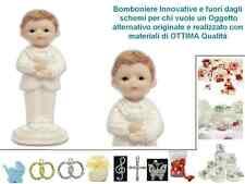 SET n.12 BOMBONIERA per COMUNIONE SEGNAPOSTO STATUETTA BIMBO con CALICE TB7216