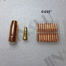 """0.035"""" Contact Tip 20PK Nozzle 130EN 180EN Clarke Mig Welding Gun Stinger Torch"""