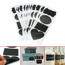 48 Pcs Chalkboard Favour PVC Stickers Lable Tags Decor For Home Kitchen Office