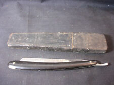 Old Vtg Collectible Soligen Best Silver Straight Razor W/Box