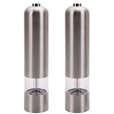 New 2 Electric Spice Salt Pepper Mill Grinder Stainless Steel Muller Home Tools