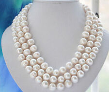 10-11MM WHITE FRESHWATER culture PEARL NECKLACE 54""
