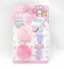 New My Melody Cosmetic Refilling Container Empty Plastic Case 2 set + Spoon FS