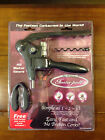 NEW Insta-Pull All Wine Opener Corkscrew Foil Cutter Extra Worm All Metal Gears