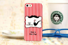 Mustache Iphone 5 / 5S Case - Red White Stripes