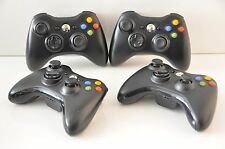 Official Microsoft xbox 360 Wireless Controller Lot of 4 Units (Glossy Black)