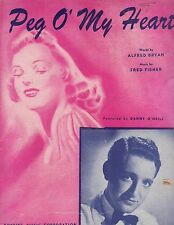 Peg O' My Heart ~ 1947 Sheet music Danny O'Neill Vintage