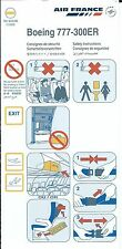 Safety Card - Air France - B777 300ER - 2008 (S2029)