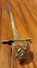 Vintage Sword Letter Opener Decorative Ornate Dagger Document Knife Spanish