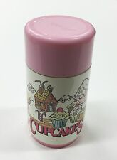 Vintage CUPCAKES Girls Lunchbox Thermos Tonka 1991 Aladdin Pink White Toy Dolls