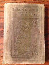 ELSON READER 1909 Textbook 1ST YEAR HIGH SCHOOL BOOK 4 - 8th Grade VINTAGE