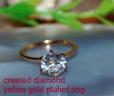 0.8ct Solitaire DIAM0ND ring size O 7.5