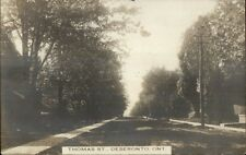 Deseronto Ontario ON Thomas St. c1910 Real Photo Postcard