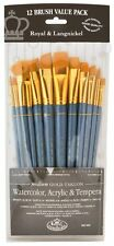 Royal & Langnickel Artists 12 Brush Value Pack for Watercolour & Acrylic Paint
