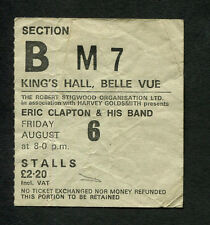 1976 Eric Clapton Van Morrison Concert Ticket Stub Manchester No Reason To Cry