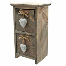 Rustic Driftwood Draws Small Shabby Chic Draws With White Heart Detail