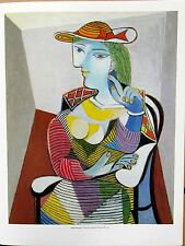 Pablo Picasso Poster  Portrait of Marie-Therese Walthier  Cubist Colorful Woman