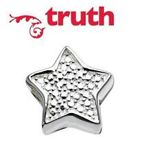 Genuine TRUTH PK 925 sterling silver star charm bead fits 3mm European bracelets
