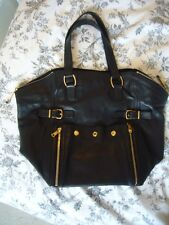 Yves Saint Laurent Downtown Borsa A MANO IN PELLE NERA