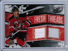 08/09 UD ICE MATTHEW HALISCHUK FRESH THREADS DUAL PATCH JERSEY /10 BLACK DEVILS