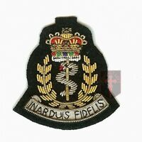 Official RAMC Wire Embroided Officers Cap Badge ( Royal Army Medical Corp