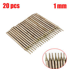 New 20 pieces 1mm Diamond coated hole saw tipped SOLID drill BITS Glass Tile