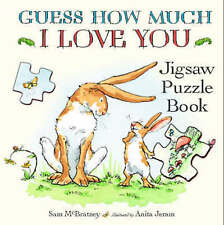 Guess How Much I Love You - Jigsaw book - with text & seven 12-piece puzzles NEW
