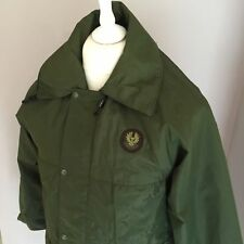 BELSTAFF Vintage Army Green Derwent Windproof Casual Jacket Coat Extra Small XS